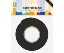 JEJE Produkt Foam Tape zwart 2 m x 12 mm x 2 mm