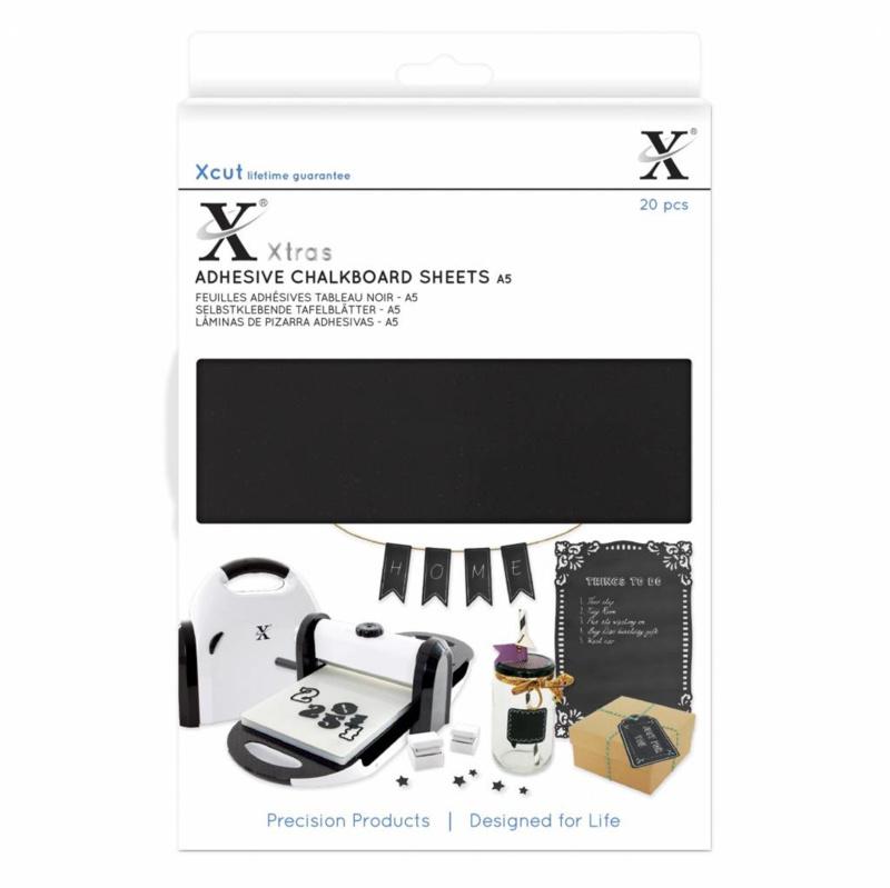 Xcut Xtra A5 Adhesive Chalkboard Sheets (20pcs)