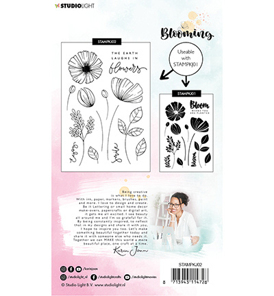 StudioLight Stamp A6 Karin Joan Blooming Collection nr.02