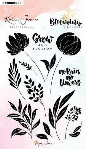 StudioLight Stamp A6 Karin Joan Blooming Collection nr.03