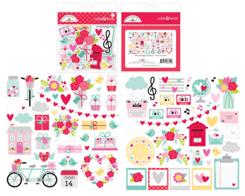 Doodlebug Love Notes Odds & Ends (6601)