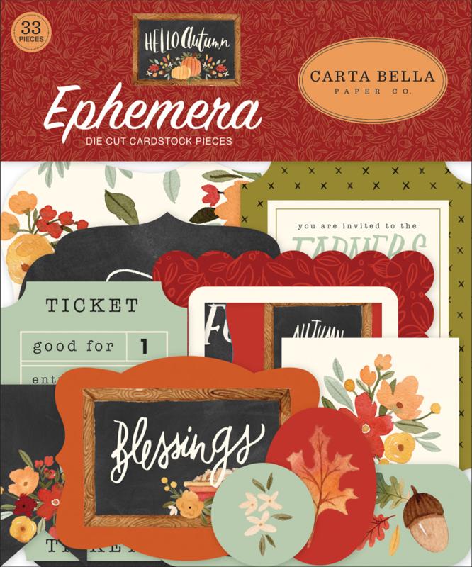 Hello Autumn Ephemera