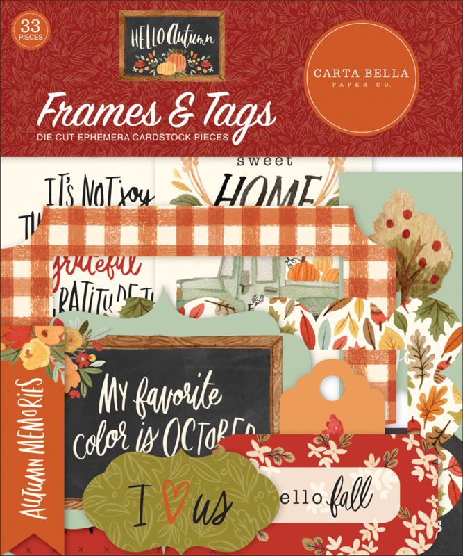 Hello Autumn Frames & Tags