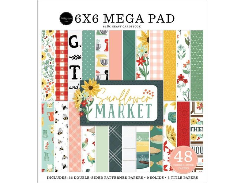 "Sunflower Market Cardmakers 6x6"" Mega pad"