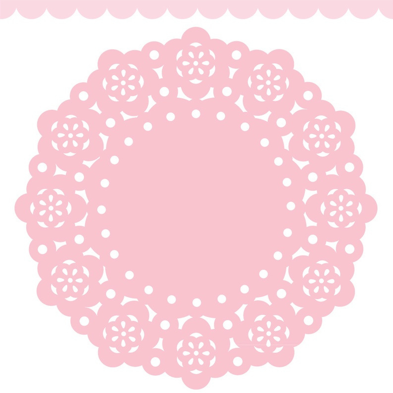 Doodlebug Mini Paper Doilies 7.5cm - Cupcake (5 stuks)