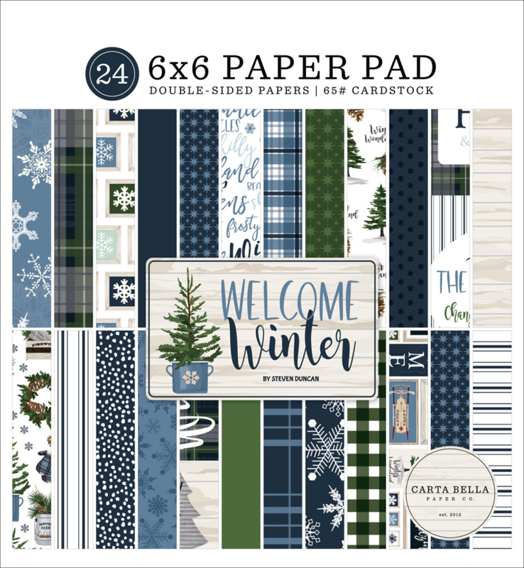 """Welcome Winter 6x6"""" Paper Pad"""