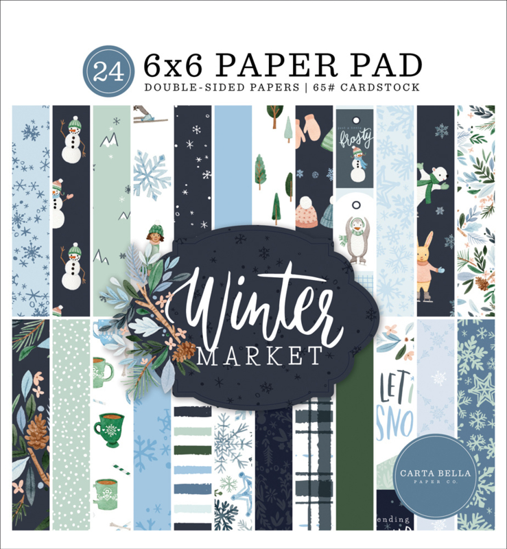 "Winter Market 6x6"" Paper Pad"
