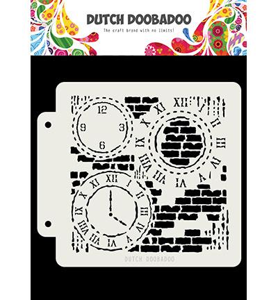 Dutch Mask Grunge Clock 470.715.154