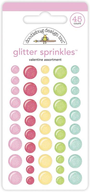 Doodlebug Love Notes - Glitter Sprinkles Valentine Assortment