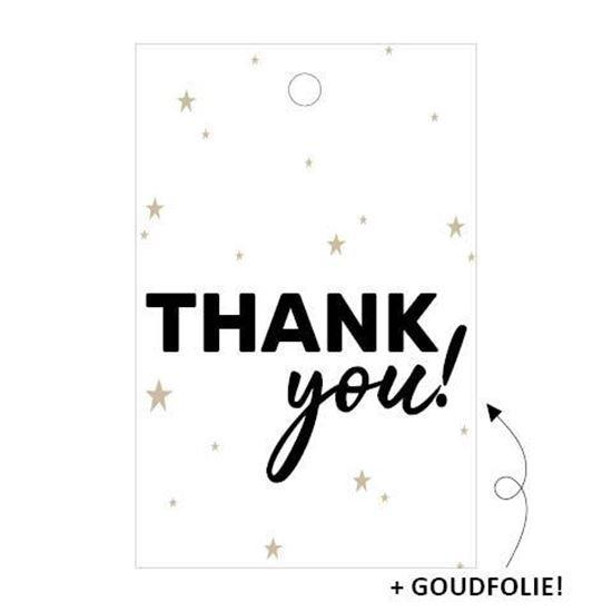 Cadeaulabel Thank you! (3 stuks)