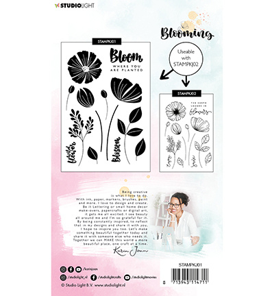 StudioLight Stamp A6 Karin Joan Blooming Collection nr.01