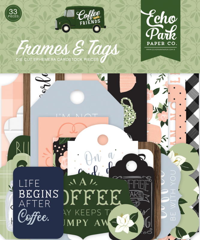 Coffee and Friends Frames & Tags
