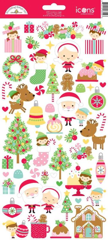Doodlebug Design Christmas Magic Icons Stickers (6559)