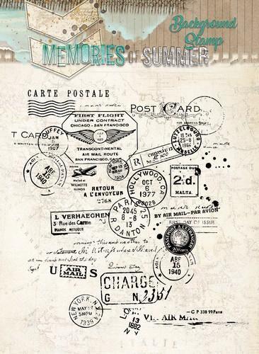 Stamp Background Memories of Summer, nr. 293 STAMPMS293