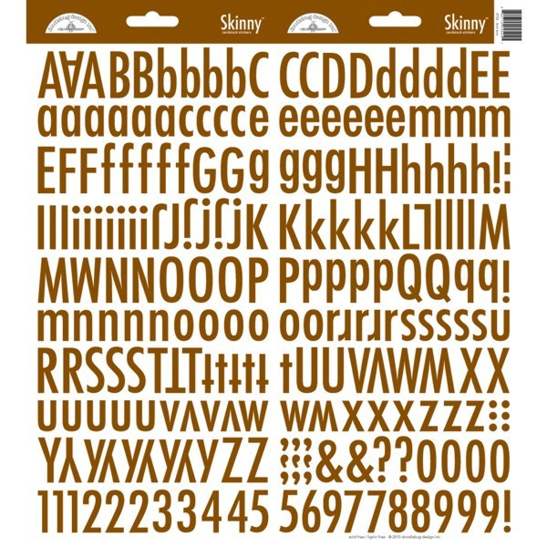 Doodlebug Design Bon Bon Skinny Stickers (4726)