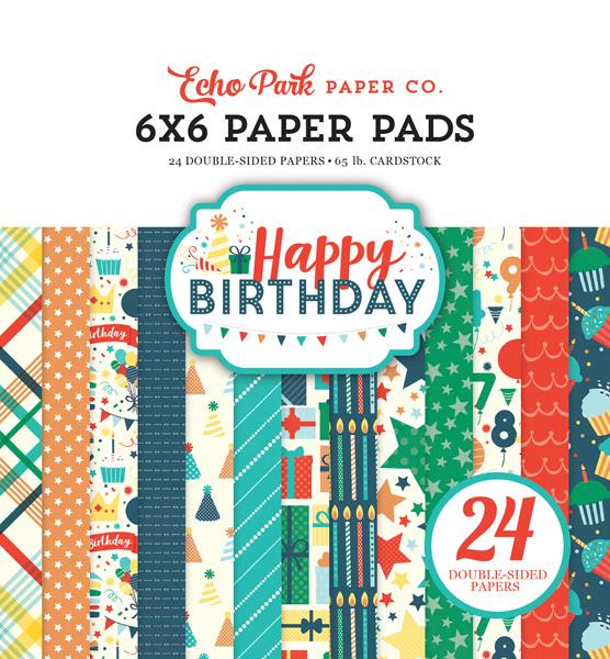 Happy Birthday Boy 6x6 Paper Pad