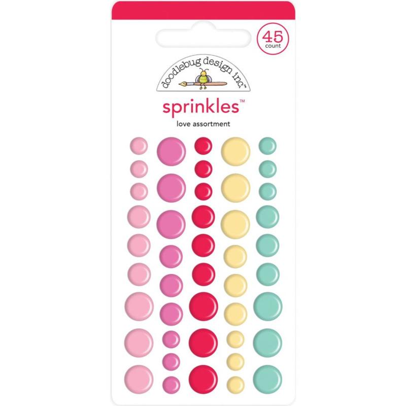 Doodlebug Love Notes - Sprinkles Love Assortment