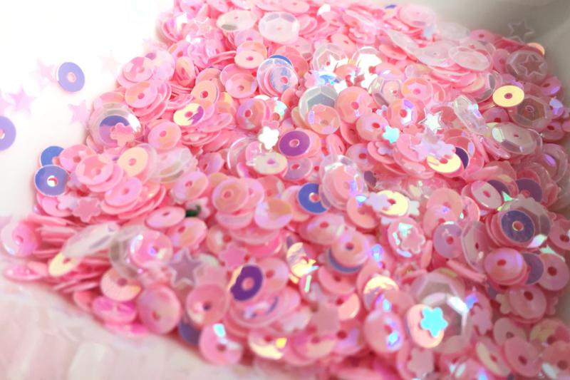 Bubblegum Sparkly Sequins Mix