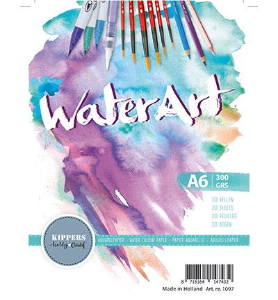 WaterArt / Papier 20 sheets / A6 / 300 grs