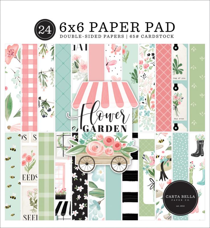 "Flower Garden 6x6"" Paper Pad"