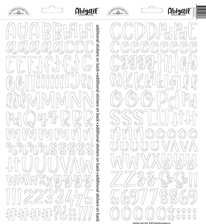 Doodlebug Design Lily White Abigail Stickers (5818)