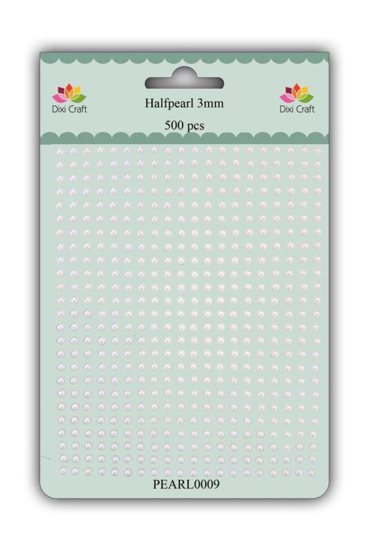 Dixi Craft Adhesive Halfpearl 3mm White