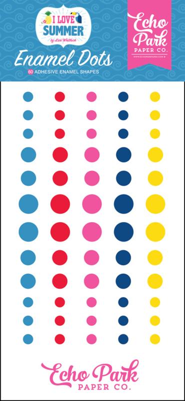 I Love Summer Enamel Dots