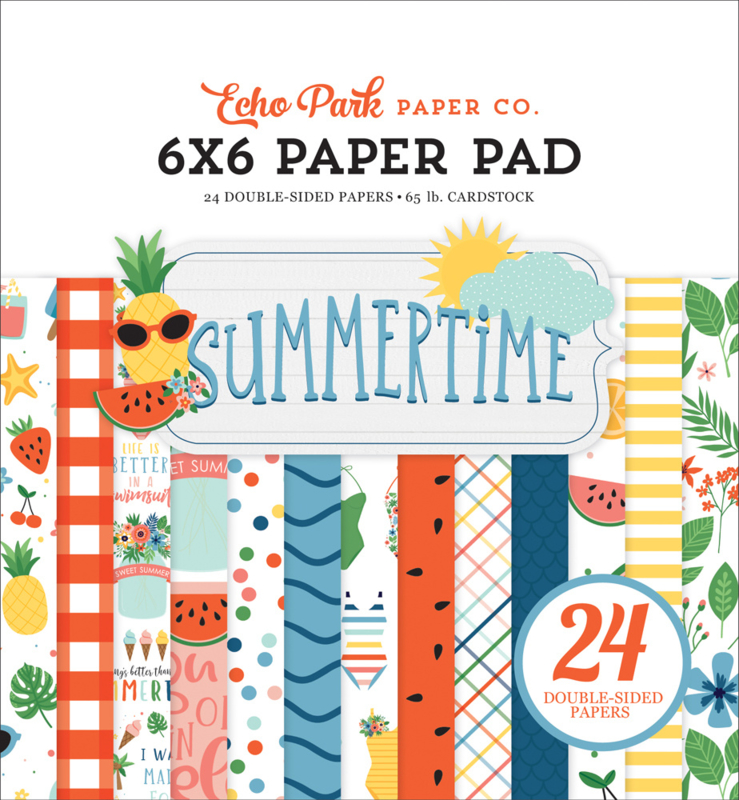 """Summertime 6x6"""" Paper Pad"""