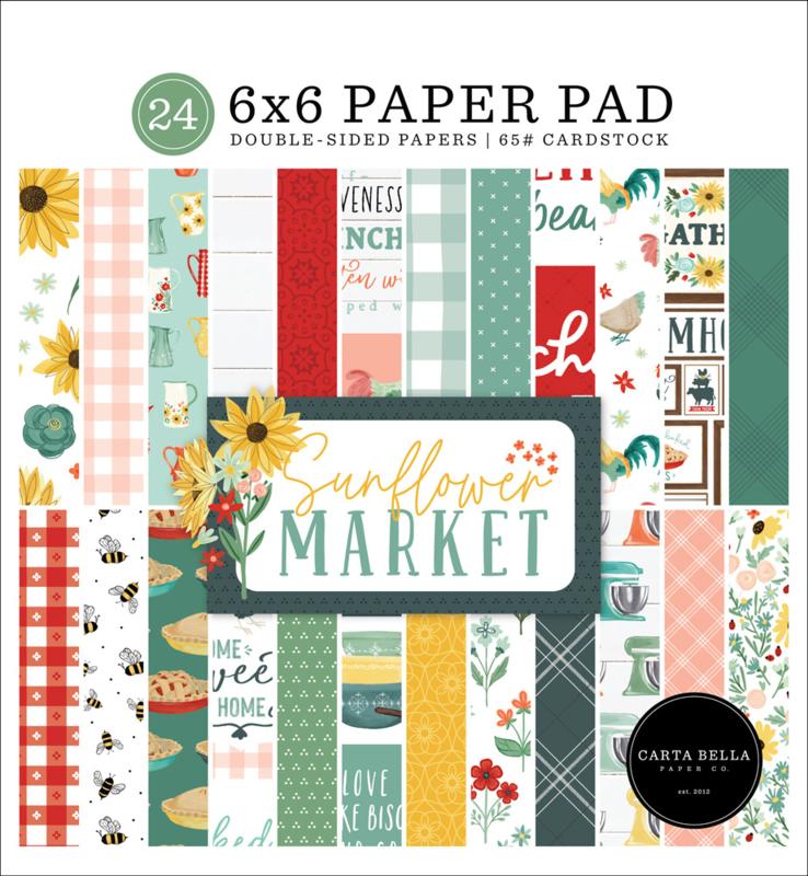 "Sunflower Market 6x6"" Paper Pad"