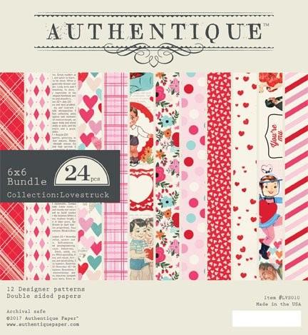 Authentique  Lovestruck 6x6 Paper Pad