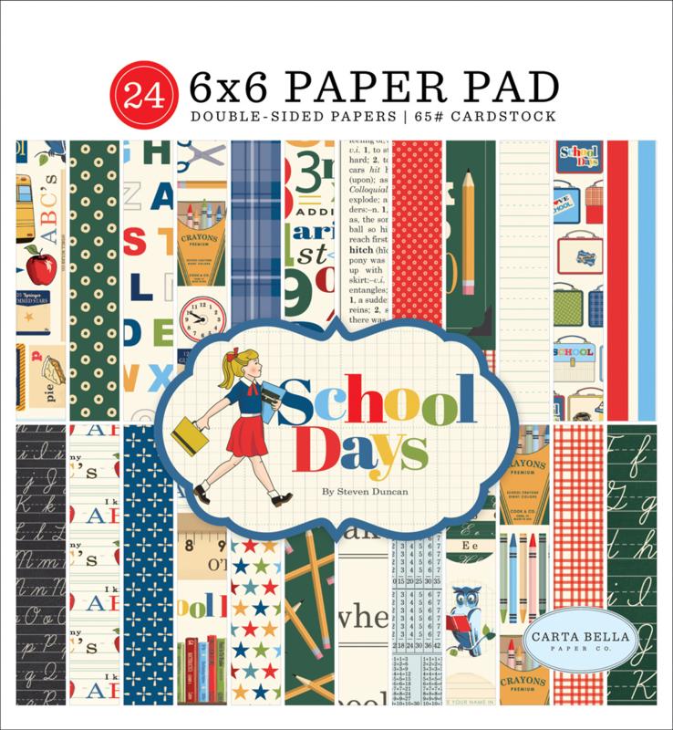 School Days 6x6 Paper Pad