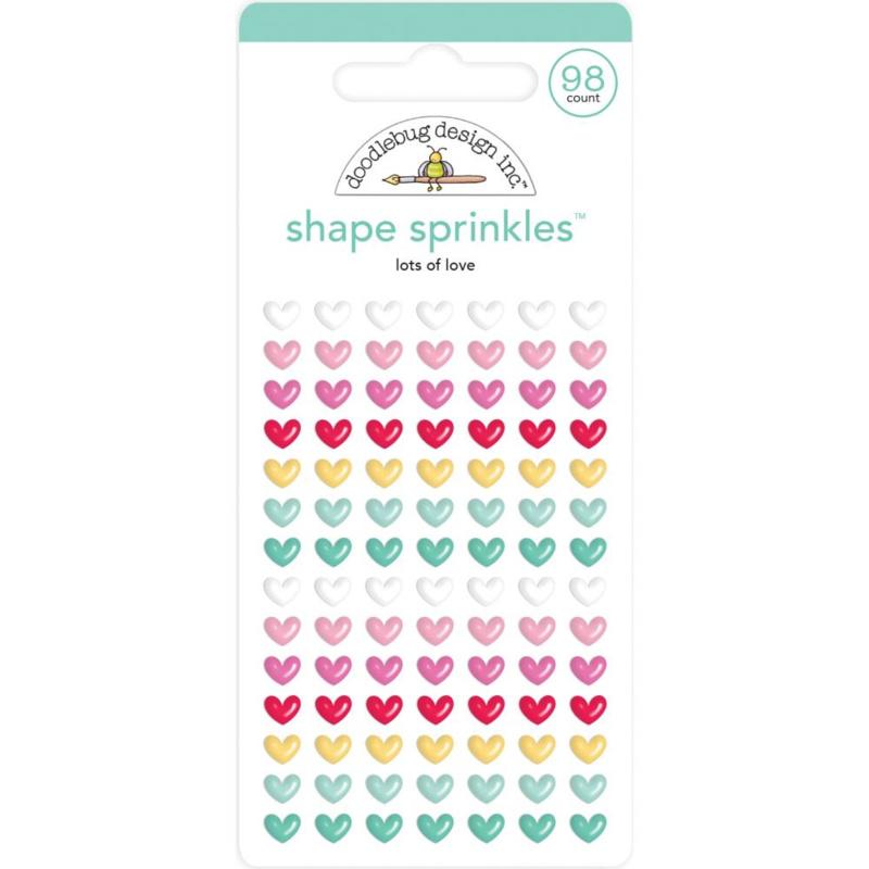 Doodlebug Love Notes - Shape Sprinkles Lots of Love