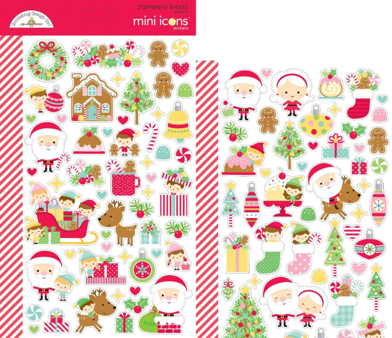 Doodlebug Design Christmas Magic Mini Icons Stickers (6471)