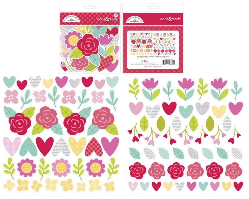 Doodlebug Love Notes Odds & Ends I Pick You (6602)