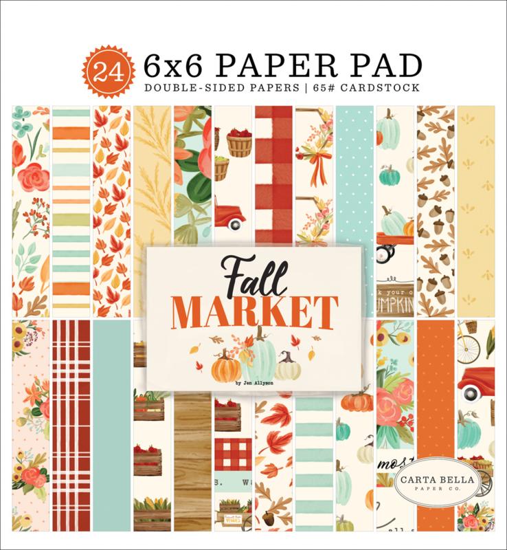"""Fall Market 6x6"""" Paper Pad"""