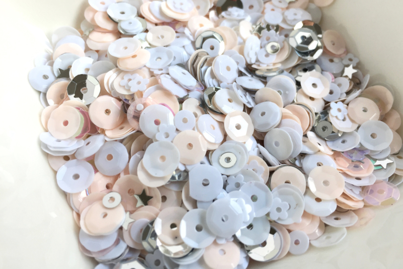 Sweet Blush Sparkly Sequins Mix