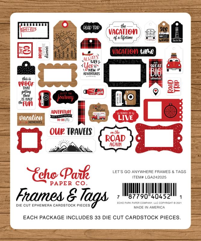 Let's Go Anywhere Frames & Tags