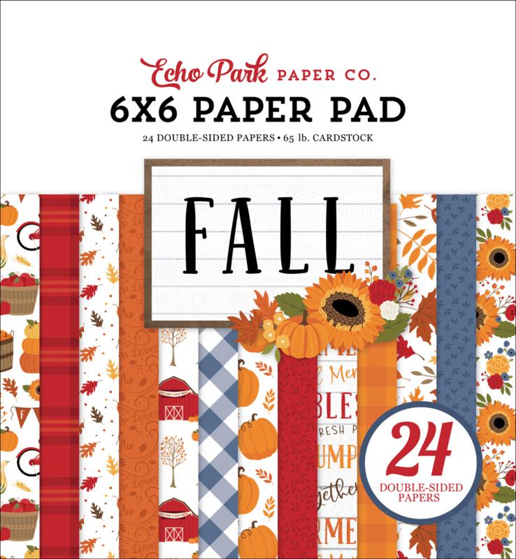"""Fall 6x6"""" Paper Pad"""