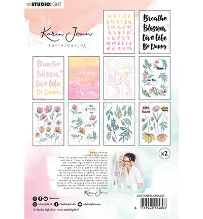 StudioLight Stansblok A5 20 vel Karin Joan Blooming Collection nr.02