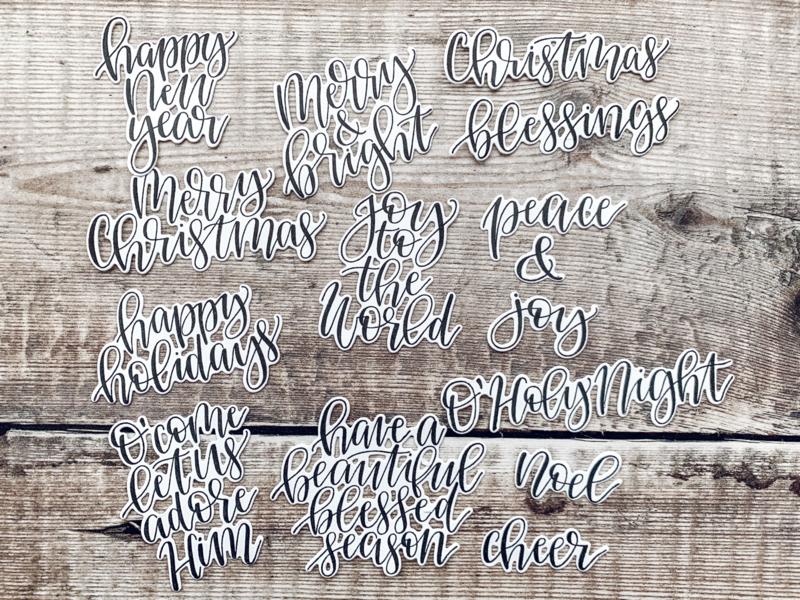 Sentiments Christmas (zwart)
