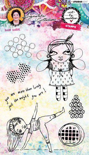 Studio Light - Art by Marlene 3.0 - Stamp Little Ladies nr.38 STAMPBM38