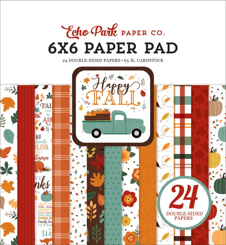 """Happy Fall 6x6"""" Paper Pad"""