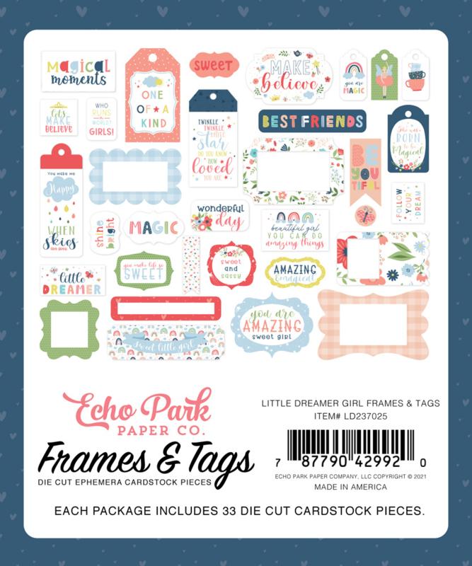 Little Dreamer Girl Frames & Tags