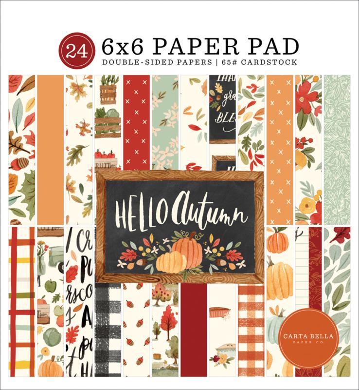 "Hello Autumn 6x6"" Paper Pad"