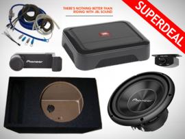 1400W Pioneer Subwoofer + 42L MDF Kist + JBL Club A600 Monoblock + RBC Bass Controller + 20mm2 Kabelset + Telefoonhouder