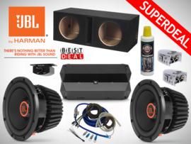 2700W JBL Stadium 1024 Subwoofers + 2400W JBL Club Monoblock + 20mm2 Kabelset + 2x  Accuklem + Autoshampoo