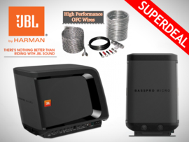 JBL BassPro Micro (Actieve Subwoofer) + High Performance OFC Kabelset