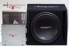 Excalibur X12.1BR Subwoofer + Excalibur X600.2 Versterker (DEFECT)*