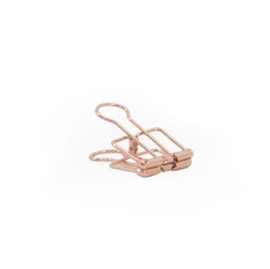 Binder clips S rose gold - 50 st