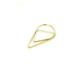 Druppel clips goud - 100 st